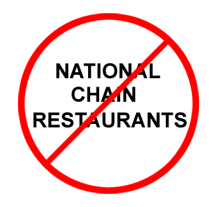 No National Chains