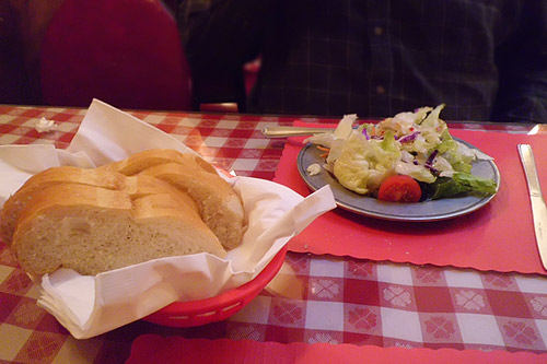 Campanello's bread and salad
