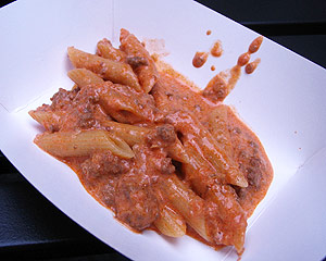 Penne with traditional meat sauce alla Bolognese