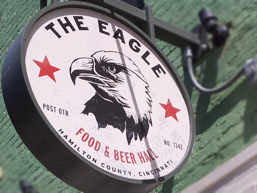Eagle Food and Beer Hall sign
