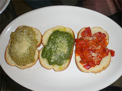 Bruschetta at Europa