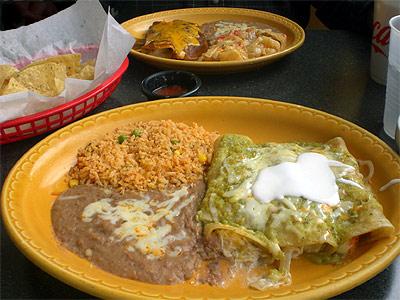 Enchiladas Suizas at Jalapeno's Mex Mex