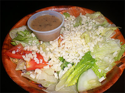 Noce's Pizzeria side salad