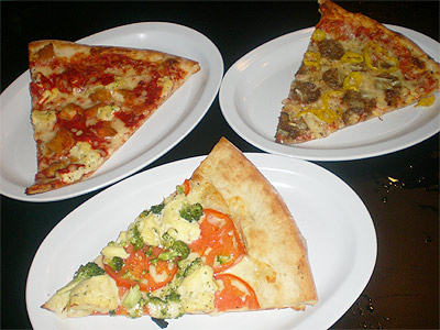 Noce's Pizzeria White Dream, Noce's Pizza and Chicken Parmagianna Pizza