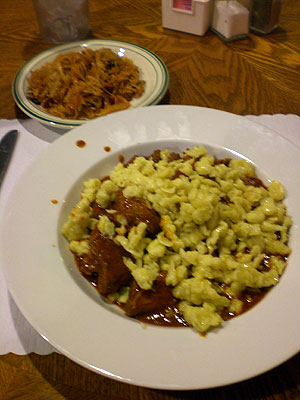Goulash w/side of sauerkraut