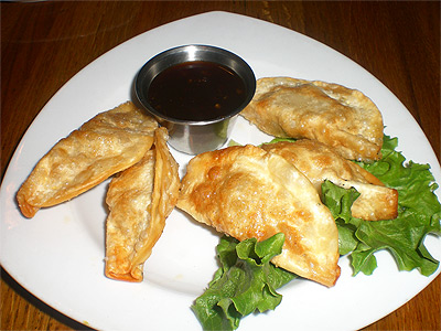 Asian pot stickers at Olives