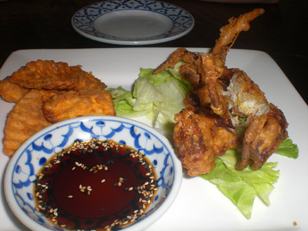 Ruthai's Soft Shell Crab Tempura and Sweet Potato Chips
