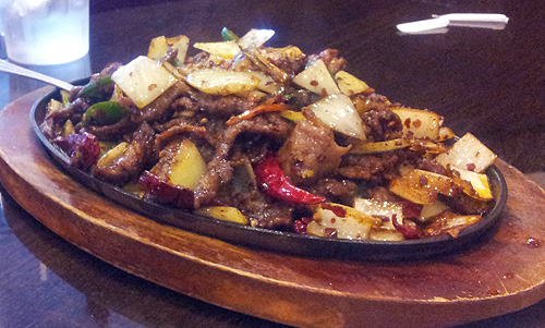 Sichuan Sizzling Beef