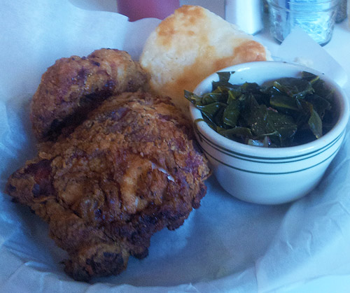 Sunday's Best 2-piece fried chicken and Carolina collard greens